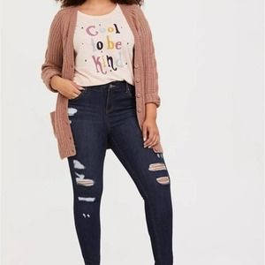 Torrid Cool To Be Kind Short Sleeve T-Shirt Pink 2 / 2X